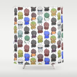 NZ Birdz Shower Curtain