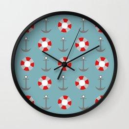 Sailing Pattern Wall Clock