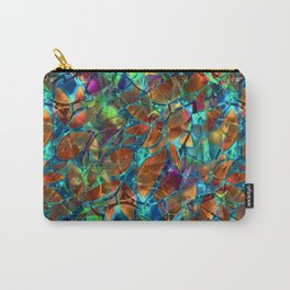Floral Abstract Stained Glass G290 Carry-All Pouch