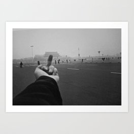 Ai Weiwei - Middle Finger Art Print