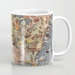 History of America Pictorial State map of Historical Events landscape painting by Aaron Bohrod Coffee Mug
