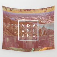 adventure Wall Tapestries featuring Adventure by Zeke Tucker