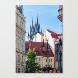 Church of Our Lady before Tyn in Prague Canvas Print