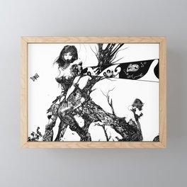 Dark line village Framed Mini Art Print