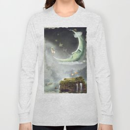 Night. Time of miracles and magic Long Sleeve T-shirt
