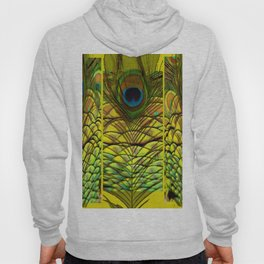 GREEN-YELLOW PEACOCK FEATHERS ART DESIGN Hoody