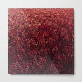 Red Grass Metal Print
