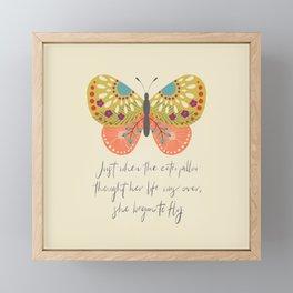 Botanical Butterfly: She began to Fly Framed Mini Art Print
