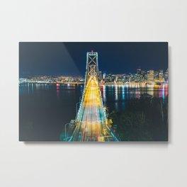 Treasure Island view of the Bay Bridge - San Francisco, CA Metal Print