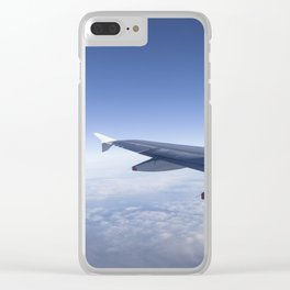 Heavenly Blue Skies Flying Clear iPhone Case