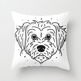Doodle Dog Throw Pillows   Society6