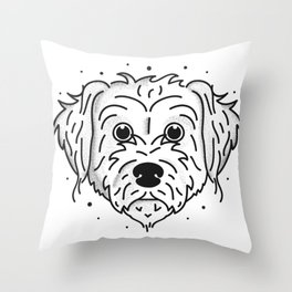Doodle- black and white Throw Pillow
