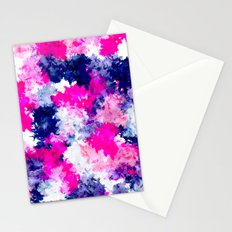 Hand painted pink purple watercolor abstract brushstrokes  Stationery Cards