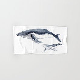 Humpback whale with calf Hand & Bath Towel