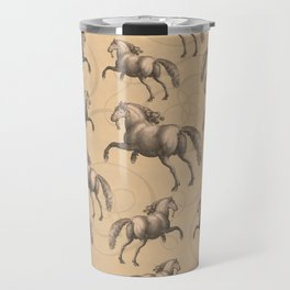 Galloping Spanish Horses Travel Mug