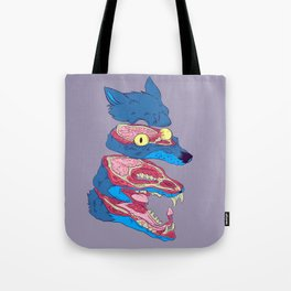 Dissected Wolf Tote Bag