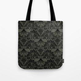 Stegosaurus Lace - Black / Grey Tote Bag