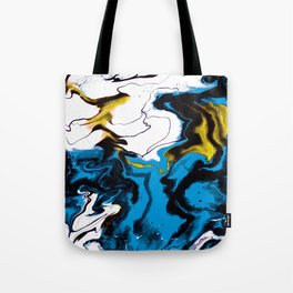 Dreamscape 01 in Blue, White & Gold Tote Bag
