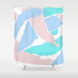 Pastel Paper Shower Curtain