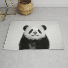Panda Bear - Black & White Rug