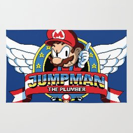 Jumpman the Plumber Rug