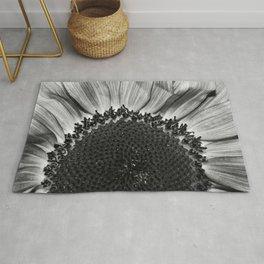 Black and White Sunflower Rug