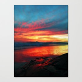 Sunset at UCSB Beach Canvas Print