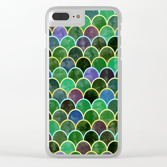 Watercolor Lovely Pattern VVII Clear iPhone Case