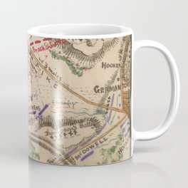 Vintage Map of The Battle of Chantilly (1865) Coffee Mug