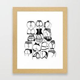 Lingerie Butts Framed Art Print