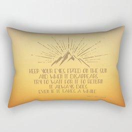 Keep Your Eyes Fixed on the Sun Rectangular Pillow