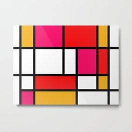 The fake changed colours Piet Mondrian Metal Print