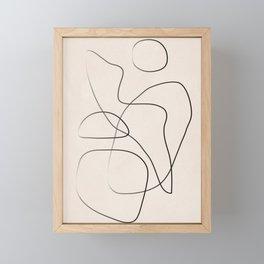Abstract Line I Framed Mini Art Print