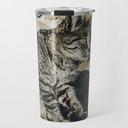 The attention of a feline Travel Mug