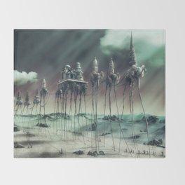 -Caravan Dali- GREEN Throw Blanket