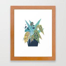 Potted Foliage Framed Art Print