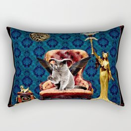 The Curiosity Shop Cat Rectangular Pillow