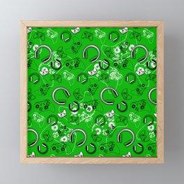 Gamers-Green Framed Mini Art Print