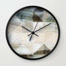 Geo Marble - Natural and Blue #buyart #marble Wall Clock