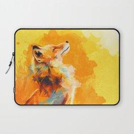 Blissful Light - Fox portrait Laptop Sleeve
