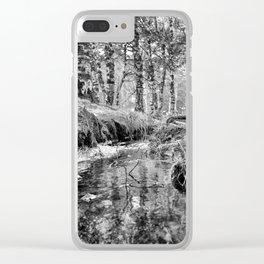 Through - Black & White Clear iPhone Case