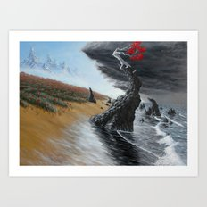 breaking the tide Art Print
