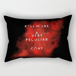 Kell wore a very peculiar coat  Rectangular Pillow