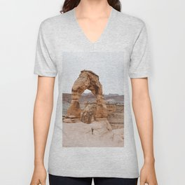 Early Morning at Delicate Arch Unisex V-Neck