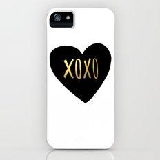 XOXO x Gold Slim Case iPhone (5, 5s)