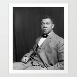 Booker T. Washington by Francis Benjamin Johnston, c. 1895 Art Print