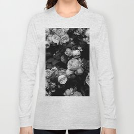 Roses are black and white Long Sleeve T-shirt
