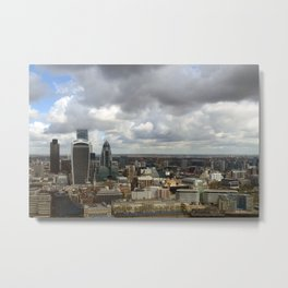 London Cityscape Skyline England UK Metal Print