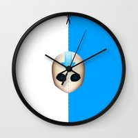 aang Wall Clocks featuring Aang by Oblivion Creative