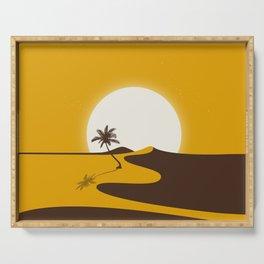 Gold Desert Serving Tray